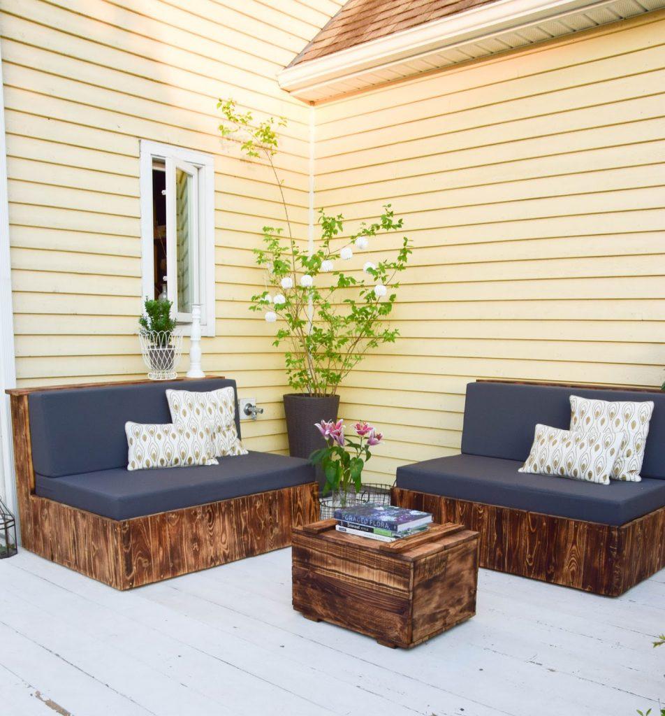 DIY Sitzmöbel aus Paletten - für die Terrasse und das Wohnzimmer