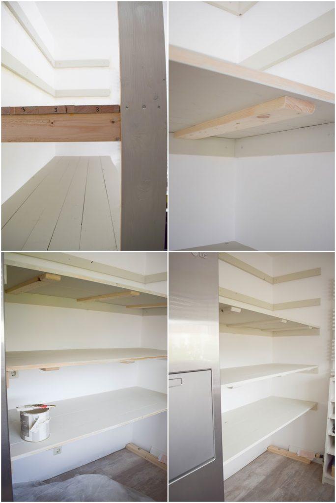 DIY Regal Vorratsregal selber bauen kueche organisieren vorratsraum organisieren selbermachen Anleitung Schritt-fuer-Schritt