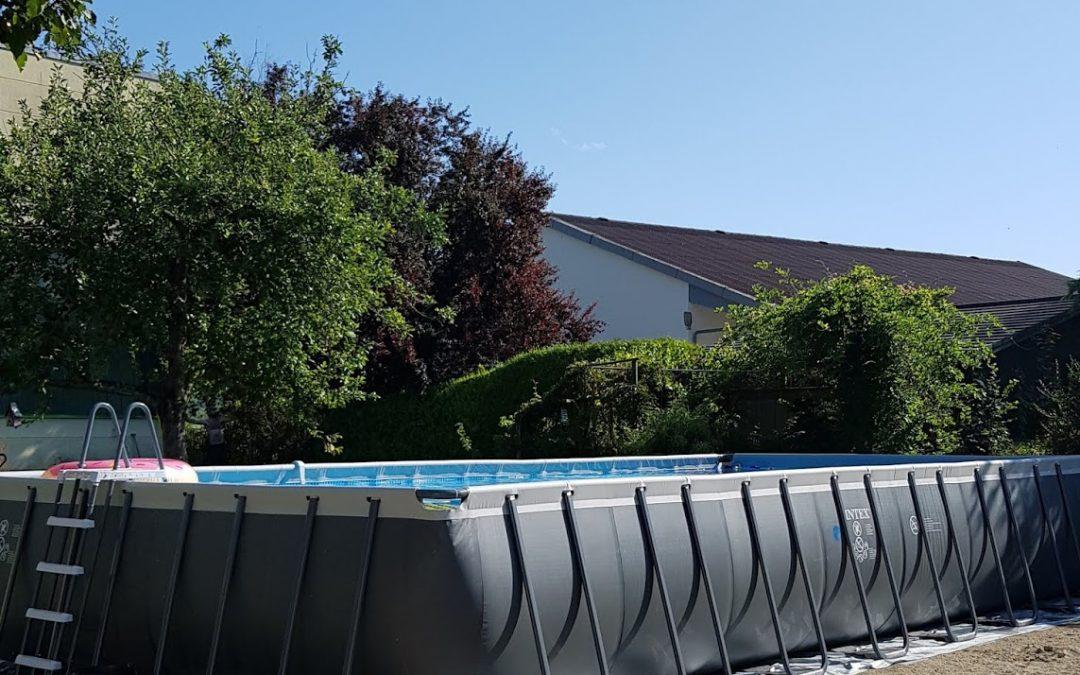 Unser Swimmingpool – selbst aufgebaut! Antworten auf all eure Fragen!