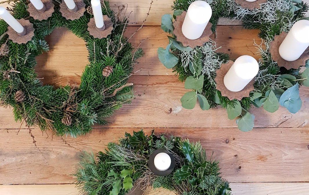 DIY Adventskranz mit Eukalyptus
