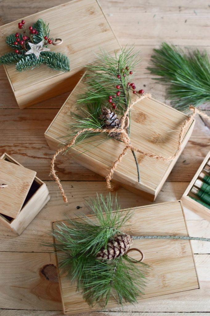 Natürlich verpacken Geschenke Geschenkideen Geschenkverpackung aus Holz Terra kreativ natürliche Verpackung
