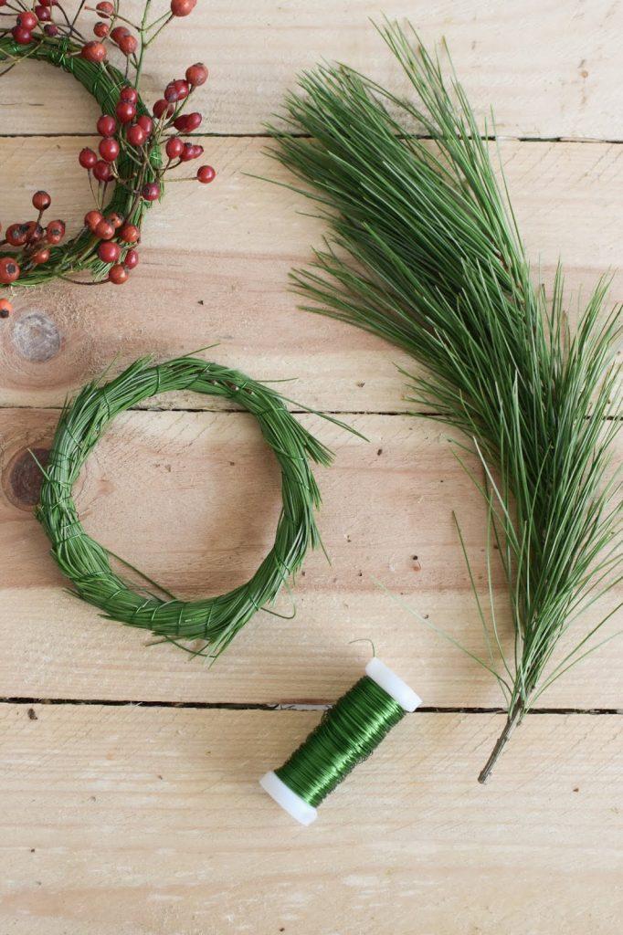 DIY Aanleitung Kranz- selbermachen aus Seiden-Kiefer-Kränze basteln einfach schnell