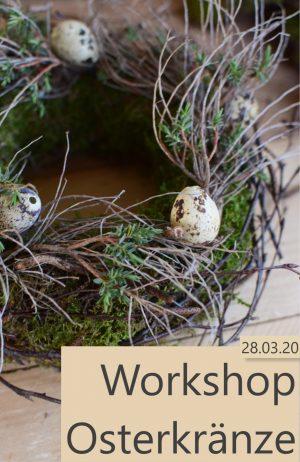 Kranz binden mit Mrs Greenery: Workshop mit Naturmaterialien Kränze binden für Ostern