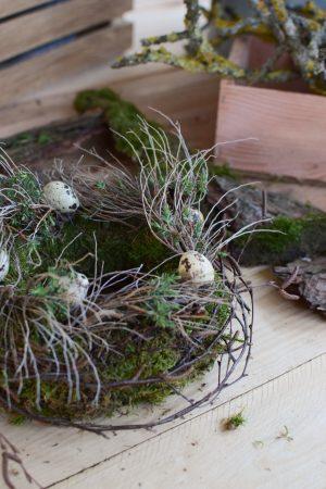 Kreativ Set Mooskränze binden mit Stroh-Rohling, Moos, Bindedraht, DIY Mini-Kränze diy mrs greenery osterdeko dekoidee ostern