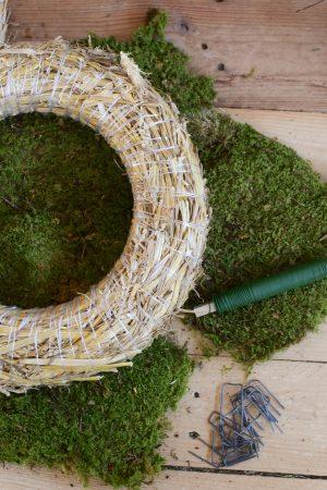 Kreativ Set Mooskranz binden mit Stroh-Rohling, Moos, Bindedraht, DIY