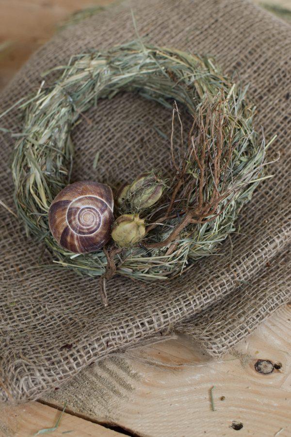 Kreativ-Set Heukranz Sommer selbermachen mit Schneckenhäuser, Gerste, Euphorbia Kranz Kränze DIY Kreativsein mit Mrs Greenery