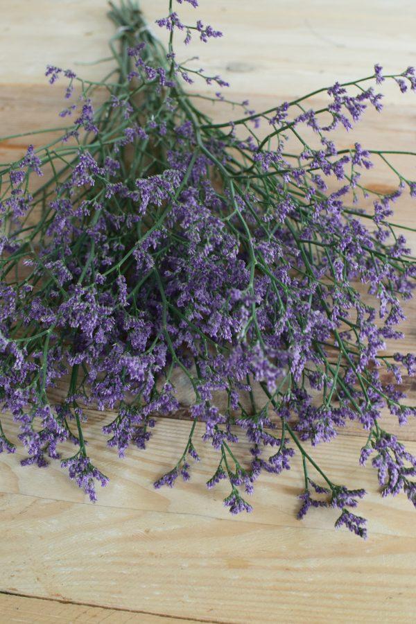Strandflieder in violett lila blau für deine Naturdekos. Kranzbinden Kreativsein mit Natur Flieder Trockenblumen