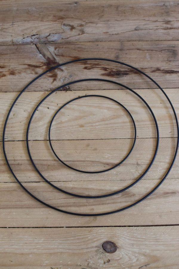 Metallring für Loopkränze. Perfekt für deine DIY Kränze Kranz Loop Kranzbinden selbermachen Metall schwarz