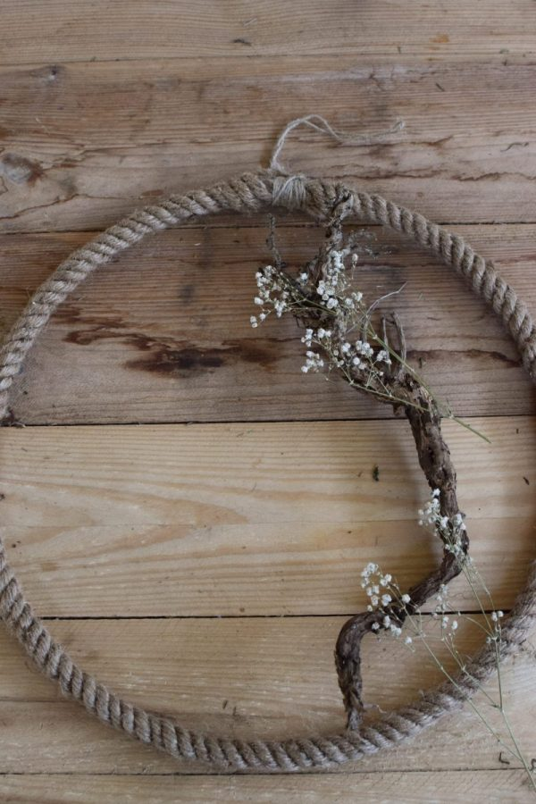 Metallring mit Jute für Loopkränze. Perfekt für deine DIY Kränze Kranz Loop Kranzbinden selbermachen Metall schwarz