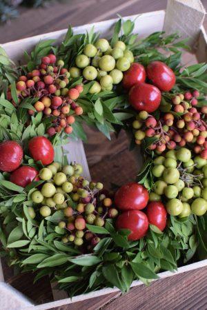Früchtekranz Kranz Kränze fertig gebunden Deko Dekoidee Naturdeko