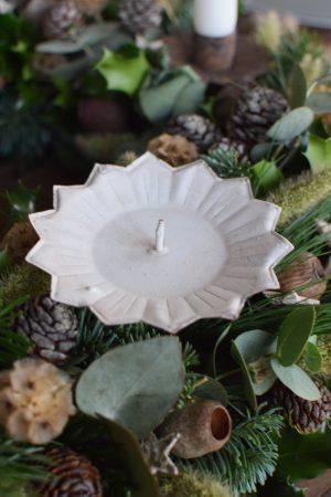 Kerzenhalter für deinen Adventskranz im Antik-Look in Vintage weiß für Blockkerzen. Advent Weihnachten Adventsdeko Adventskranz Kerze