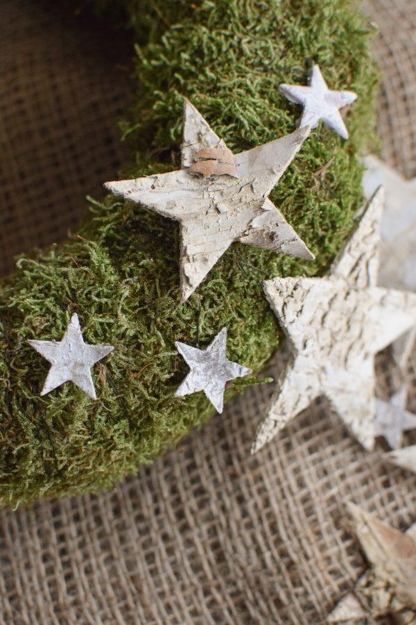Holzsterne Birke Dekosterne Birkensterne Weihnachtsdeko Weihnachtssterne Sterne