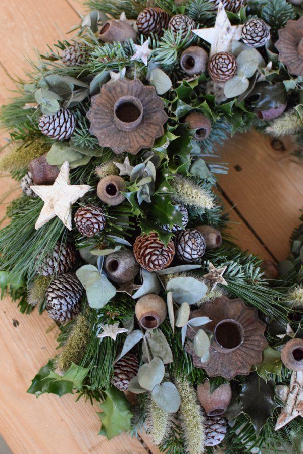 DIY Adventskranz Kreativ-Set zum selberbinden selbermachen Kranz Kränze Weihnachten Winter Advent Kreativsein 40 cm Durchmesser