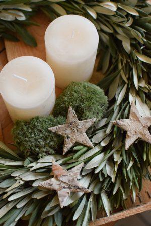 Kerze Winter Weihnachten Advent Kerzen kaufen weiss