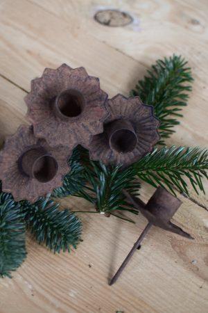 Kerzenhalter für deinen Adventskranz im Antik-Look in Vintage für Stabkerzen. Advent Weihnachten Adventsdeko Adventskranz Kerze