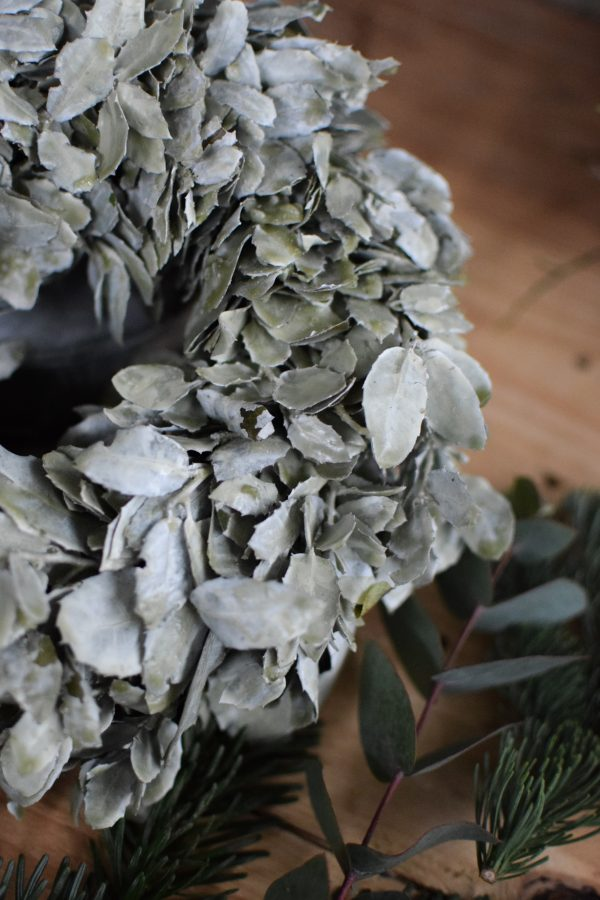 Blätterkranz gewachst Wachskranz Kranz Kränze fertig gebunden Deko Dekoidee Naturdeko
