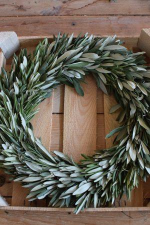 Olivenkranz Kranz Olivenblätter Olive Winterkranz Dekokranz Weihnachtskran