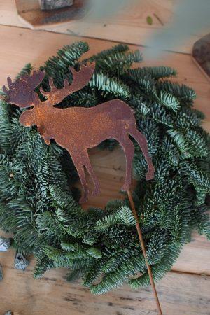 Rentier Stecker aus Metall in Rostoptik für deine winterliche weihnachtliche Deko Dekoidee