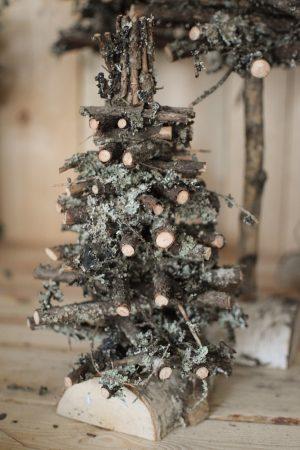 Tanne Birke Dekotanne Naturdeko Dekoidee Weihnachten Herbst Winterdeko Weihnachtsdeko Baum