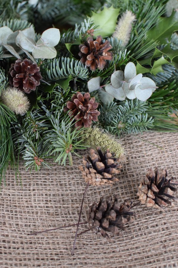 Zapfen mit Draht Dekozapfen Herbst Weihnachten Dekoidee DIY Zapfenstecker Naturdeko
