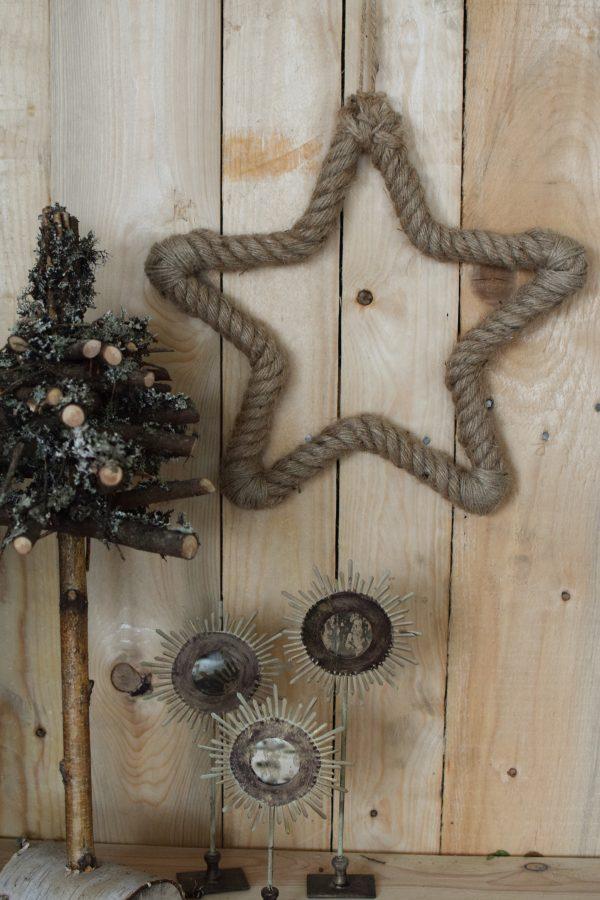 Jutestern Stern Sterne Deko Dekoidee Weihnachten Winter