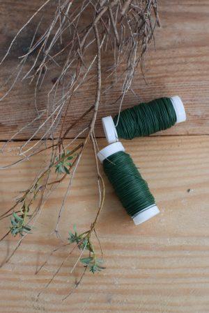 Myrtendraht klein grün. Kreativ mit Naturmaterialien gestalten. Draht Bindedraht