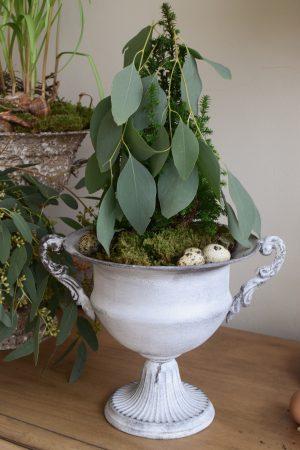 Amphore Antik Pokal zum Dekorieren. Gefäß Vase Deko Naturdeko Topf