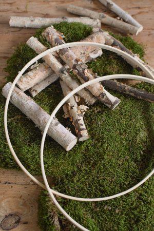 Loopring aus Holz Loop Kranz Naturdeko DIY selbermachen Rohling Kränze