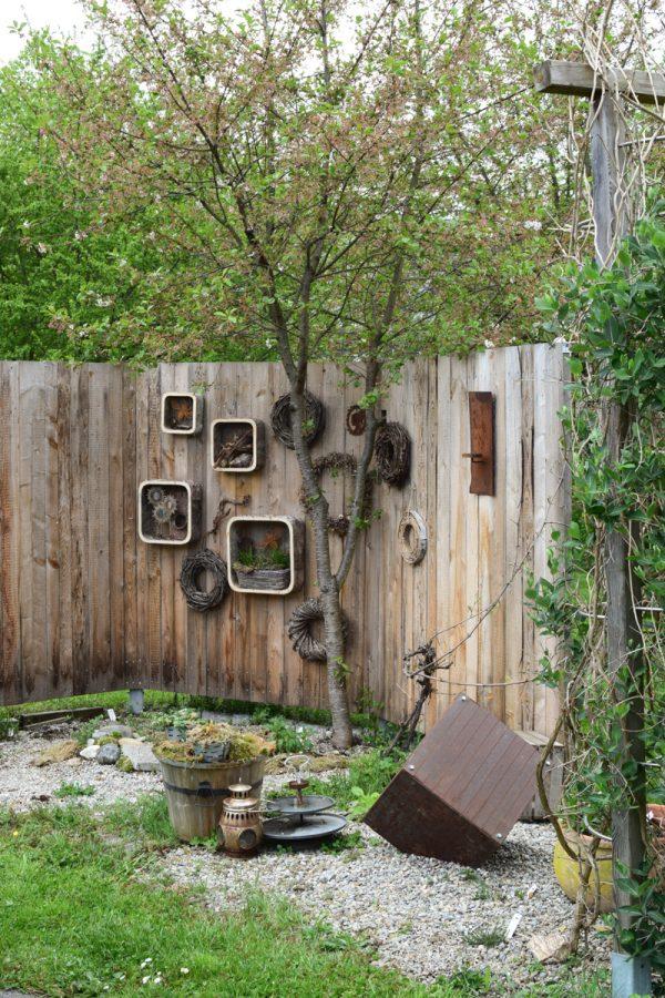 Birken Wandhänger 4er Set- Rahmen aus Birkenfurnier mit Drahtgitter. Dekoidee mit Naturmaterialen aus dem Mrs Greenery Shop. Dekoidee Wanddeko natürlich dekorieren