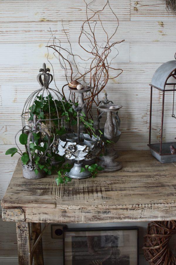 Deko Dekoidee Sideboard natürlich dekorieren Metalldeko Tischdeko Deko Vintage Mrs Greenery Shop