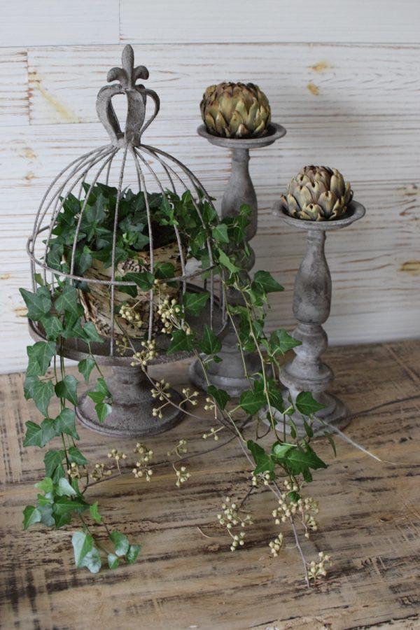 Dekokäfig aus Metall Vintage Metallkäfig gloche Metallglocke Deko Plattenhalter Vintage deko Dekoidee Mrs Greenery Shop