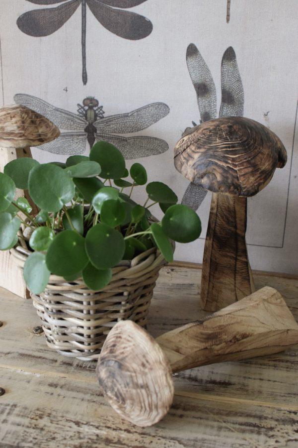 Holzpilz Pilz aus Holz handgefertigt Naturdeko natürlich dekorieren Mrs Greenery Shop