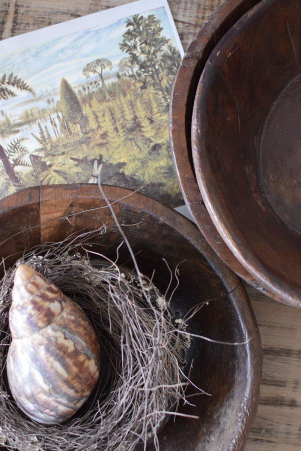 Antike Holzschale antikes Einzelstück handgefertigt. Schale aus Holz Tischdeko Dekoidee Mrs Greenery Shop