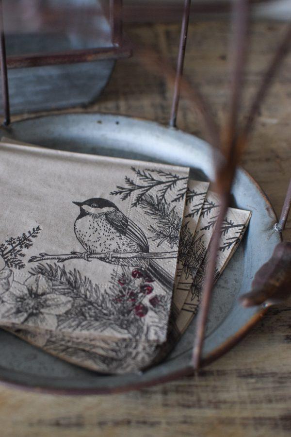 Serviette Naturmotiv Vogel Tischdeko Deko Dekoidee