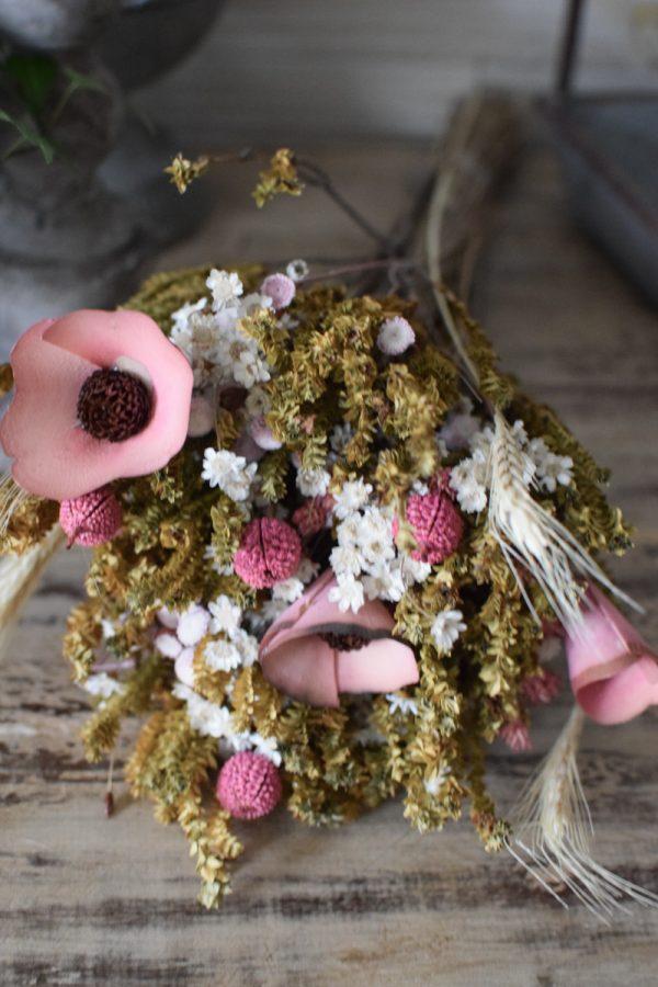 Trockenblumen Arrangement rosa Mix aus getrockneten Blumen Mrs Greenery Shop