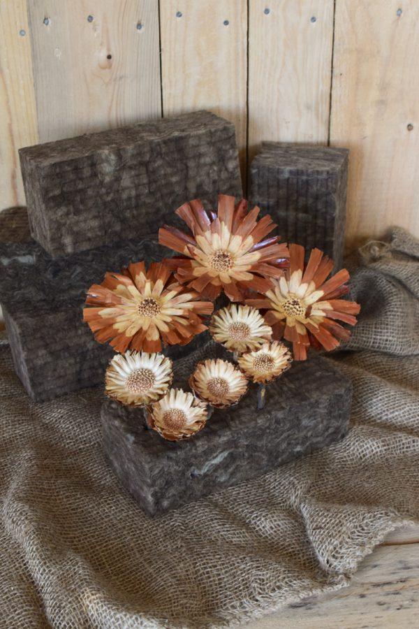 Bio Steckschaum Steckziegel. Die Alternative! Plastikfrei Blumen stecken. Für Blumengestecke aus 100% natürlichen Materialien. Für Nass- und Trockengestecke. Natürliche Steckmasse Sideau vom Mrs Greenery Shop