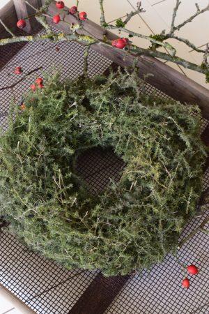 Asparagus Kranz 24 cm Fertig gebunden Fertigkranz Kranz Kränze Herbstkranz Weihnachtskranz im Mrs Greenery Shop bestellen