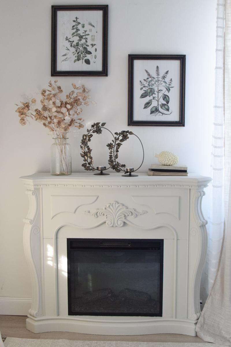 Floraler Kerzenhalter und Teelichthalter mit Metallring zum Aufstellen aus dem Mrs Greenery Shop
