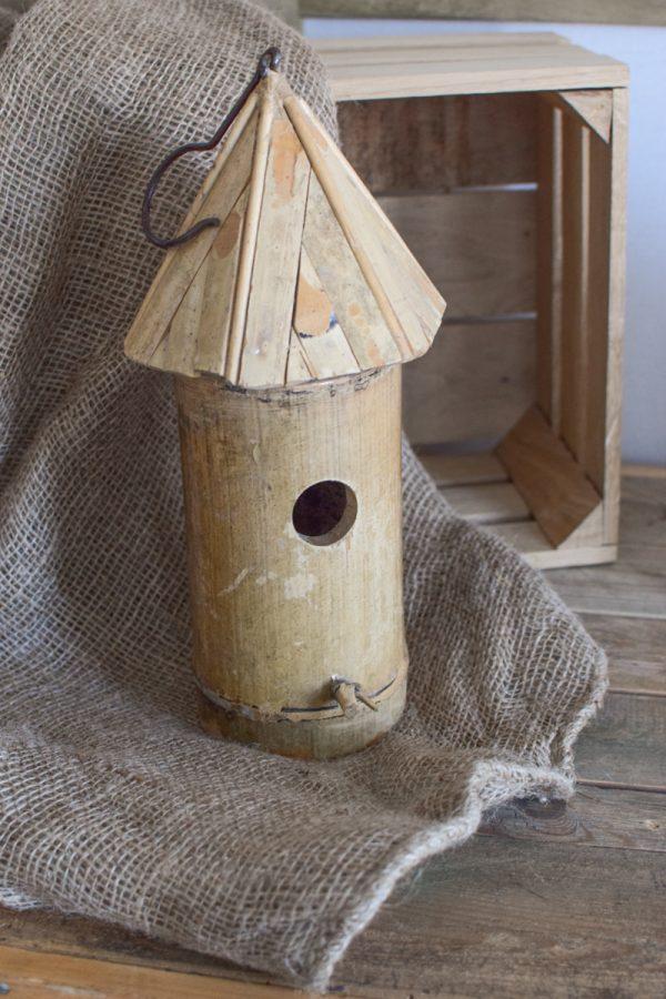 Vogelhaus zum Haengen aus Bambus. Natuerlich Dekorieren im Garten. Mrs Greenery Shop