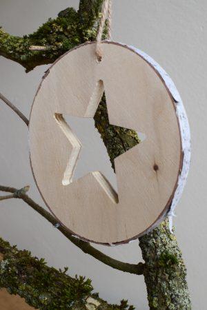 Weihnachtsdeko Adventsdeko Birkenhänger mit Stern. Naturdeko für deine weihnachtliche Deko Birkendeko Aufänger Weihnachten im Mrs Greenery Shop bestellen