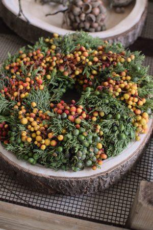 Früchtekranz Beerenkranz Herbstkranz bunt fertig gebunden Fertigkranz Kranz Kränze im Mrs Greenery Shop kaufen bestellen
